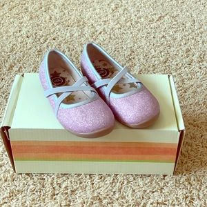 Livie and Luca Lavender Sparkle Shoes Size 8